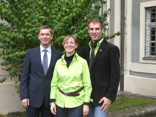 Gerd Ortner mit Sabine Wieler und Holger C. Metzger